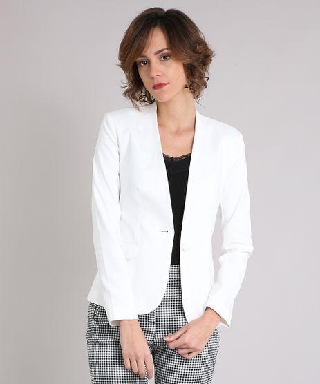 0335c71750 Blazer-Feminino-Sem-Gola--Off-White-8886587-Off White 1