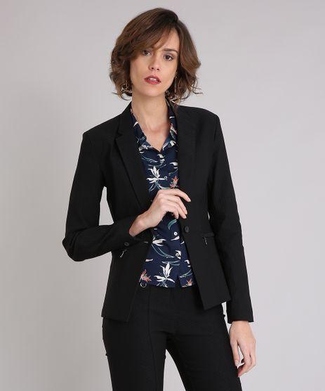 Blazer-Feminino-em-Jacquard-com-Ziper-no-Bolso-Preto-9018208-Preto_1