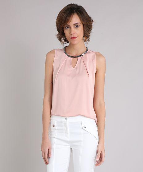 Regata-Feminina-Acetinada-com-Corrente-Decote-Redondo-Rose-8899238-Rose_1