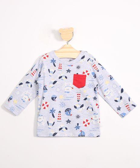 Camiseta-Infantil-Estampada-Nautica-com-Bolso-Manga-Longa-Cinza-Mescla-Claro-9983463-Cinza_Mescla_Claro_1