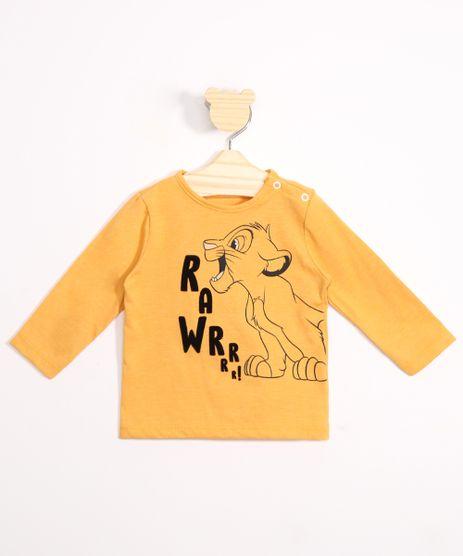 Camiseta-Infantil-Simba-O-Rei-Leao-Flocado-Manga-Longa-Amarela-9979677-Amarelo_1