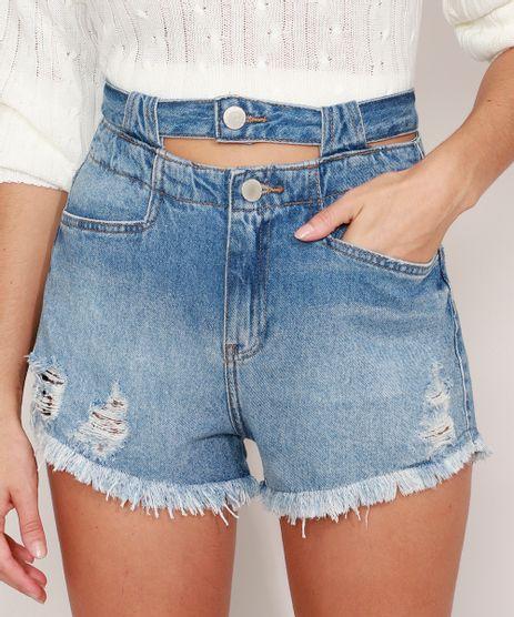 Short-Jeans-Destroyed-com-Cos-Duplo-Cintura-Super-Alta-Azul-Medio-9989212-Azul_Medio_1