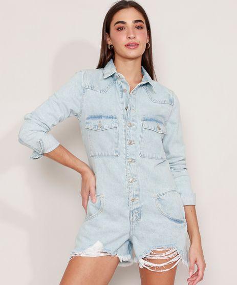 Macaquinho-Jeans-com-Bolsos-e-Botoes-Barra-Desfiada-Manga-Longa-Azul-Claro-9990663-Azul_Claro_1