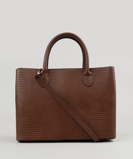 Bolsa-Feminina-Shopper-Texturizada-com-Alca-Transversal-Marrom-8501145-Marrom_1