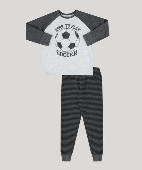 Pijama-Infantil-Futebol-em-Moletom-Manga-Longa-Decote-Redondo-Cinza-Mescla-Escuro-9133509-Cinza_Mescla_Escuro_1