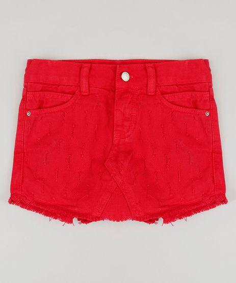 Short-Saia-Infantil-de-Sarja-com-Barra-Desfiada-Vermelho-9211562-Vermelho_1