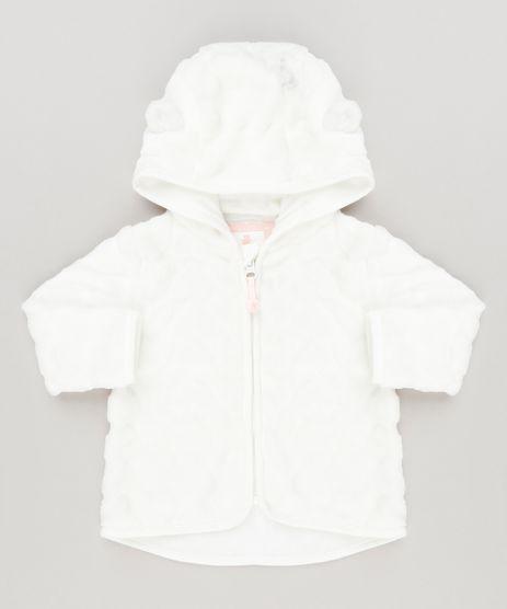 Casaco-Infantil-de-Pelo-com-Capuz-de-Orelhinhas-com-Algodao---Sustentavel-Off-White-8986211-Off_White_1