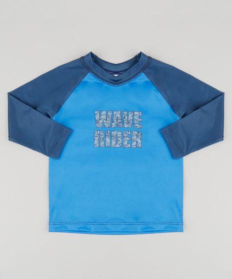 Camiseta-de-Praia-Infantil-com-Protecao-UV50--Azul-Royal-9122351-Azul_Royal_1