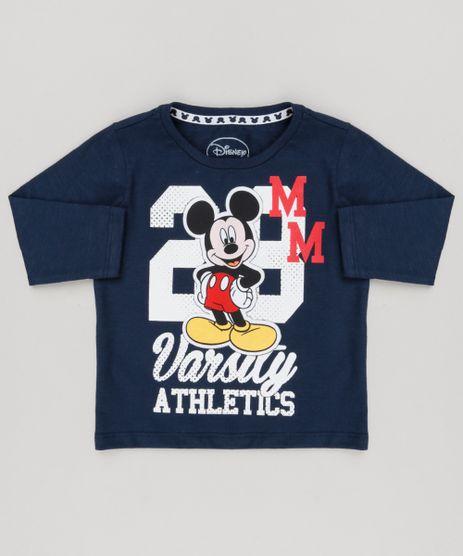 Camiseta-Infantil-Mickey-Manga-Longa-Gola-Careca-Azul-Marinho-9140114-Azul_Marinho_1