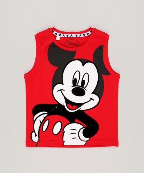 Regata-Infantil-Mickey-Gola-Careca-em-Algodao---Sustentavel-Vermelha-9191025-Vermelho_1