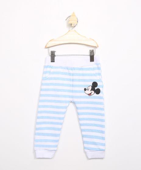 Calca-Infantil-de-Moletom-Mickey-Listrado-Azul-Claro-9971393-Azul_Claro_1