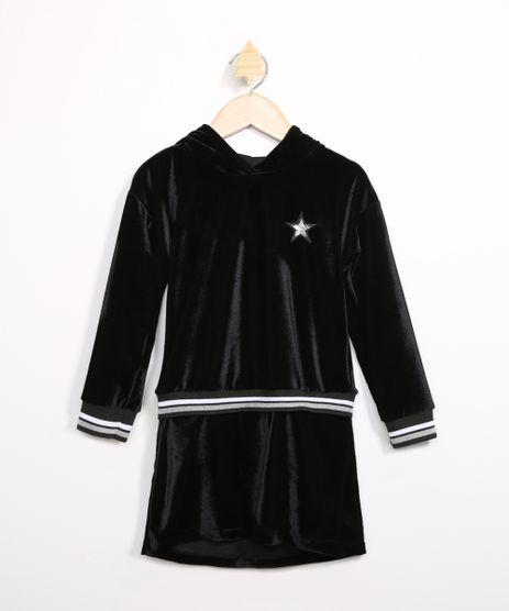 Vestido-Infantil-de-Veludo-com-Bordado-de-Estrela-Manga-Longa-e-Capuz-Preto-9980654-Preto_1