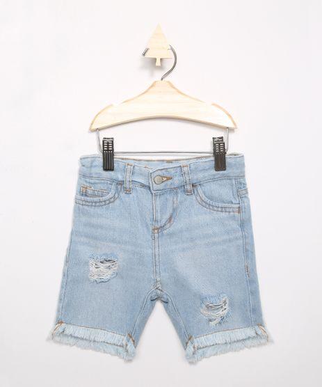 Bermuda-Infantil-Jeans-Reta-Destroyed-Azul-Claro-9983158-Azul_Claro_1