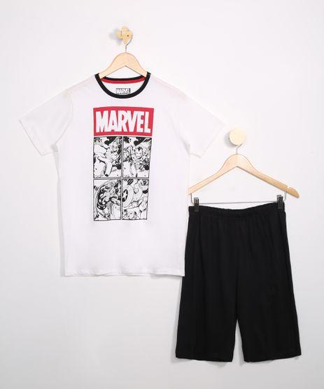 Pijama-Juvenil-Marvel-Manga-Curta-Off-White-9983641-Off_White_1