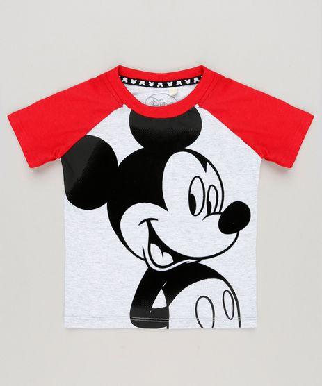 Camiseta-Infantil-Mickey-Raglan-Manga-Curta-Gola-Careca-Cinza-Mescla-Claro-8647280-Cinza_Mescla_Claro_1