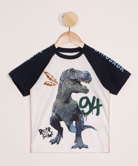 Camiseta-Infantil-Raglan-Dinossauro-Manga-Curta-Off-White-9979085-Off_White_1