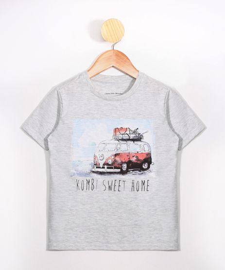 Camiseta-Infantil--Kombi-Sweet-Home--Manga-Curta-Gola-Careca-Cinza-Mescla-Claro-9976861-Cinza_Mescla_Claro_1