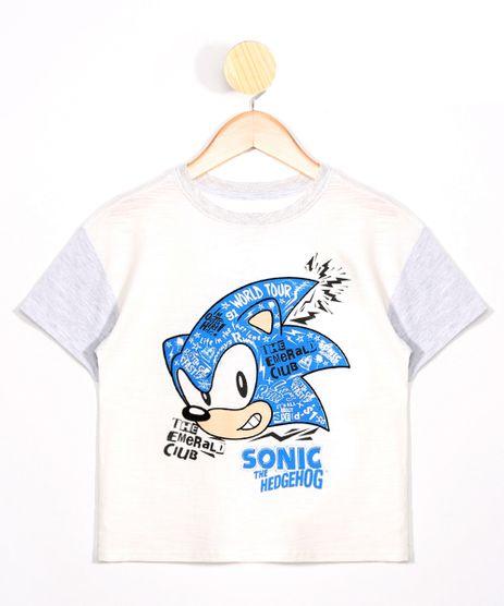 Camiseta-Infantil-Sonic-Manga-Curta-com-Recorte-Gola-Careca-Cinza-Mescla-Claro-9978380-Cinza_Mescla_Claro_1
