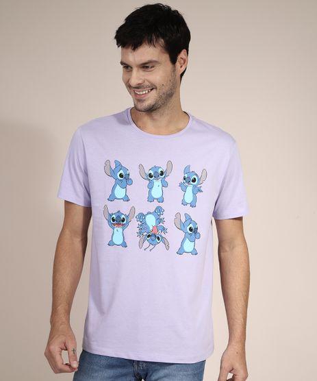 Camiseta-de-Algodao-Stitch-Manga-Curta-Gola-Careca-Lilas-9983301-Lilas_1