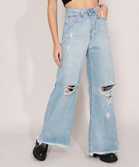 Calca-Wide-Pantalona-Jeans-Cintura-Super-Alta-Destroyed-Azul-Claro-9988942-Azul_Claro_1