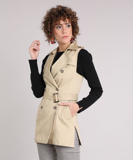 Colete-Feminino-Longo-com-Botoes-e-Cinto-Kaki-9033571-Kaki_1