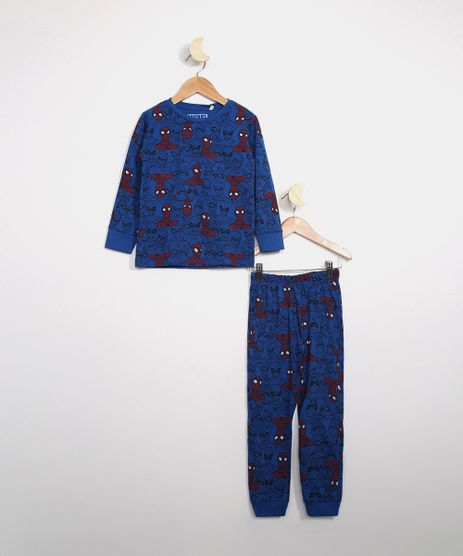 Pijama-Infantil-Estampada-Homem-Aranha-Manga-Longa-Azul-9983180-Azul_1