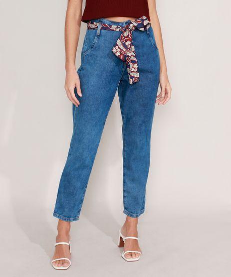 Calca-Mom-Jeans-Marmorizada-com-Lenco-Estampado-Paisley-Cintura-Super-Alta-Azul-Medio-9985074-Azul_Medio_1