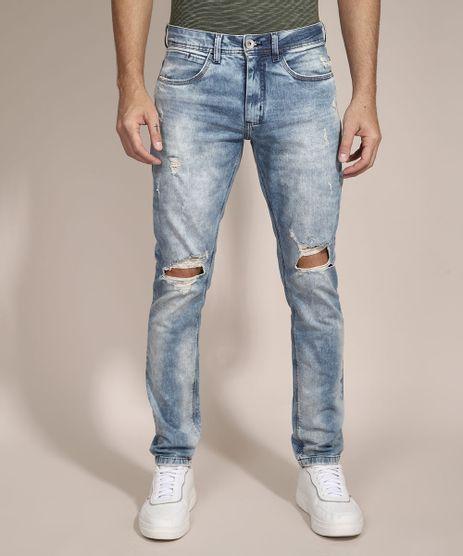 Calca-Slim-Jeans-Destroyed-Marmorizada-Azul-Medio-9981195-Azul_Medio_1