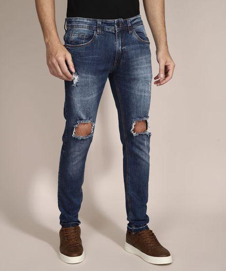 Calca-Skinny-Jeans-Destroyed-com-Bolsos-Azul-Escuro-9964245-Azul_Escuro_1
