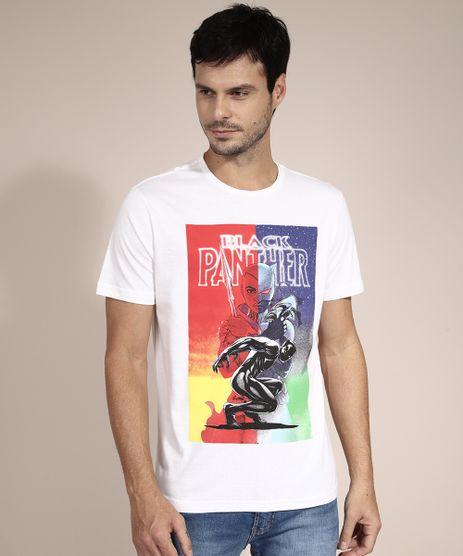 Camiseta-de-Algodao-Pantera-Negra-Manga-Curta-Gola-Careca-Branca-9982572-Branco_1