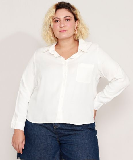 Camisa-de-Viscose-Plus-Size-com-Bolso-Manga-Longa-Off-White-9986193-Off_White_1
