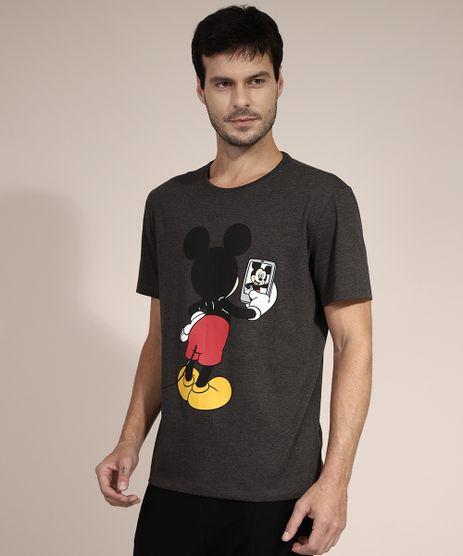 Camiseta-Mickey-Mouse-Manga-Curta-Gola-Careca-Cinza-Mescla-Escuro-9973225-Cinza_Mescla_Escuro_1