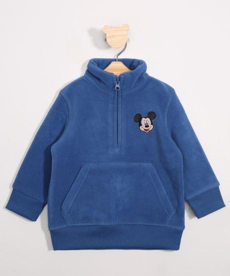 Blusao-Infantil-de-Fleece-Mickey-Gola-Alta-Azul-9337040-Azul_1