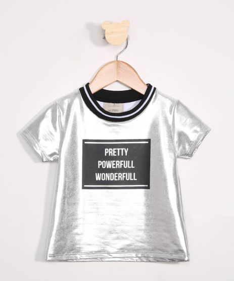 Blusa-Infantil--Pretty-Powerfull-Wonderfull--Manga-Curta-Prateada-9980595-Prateada_1