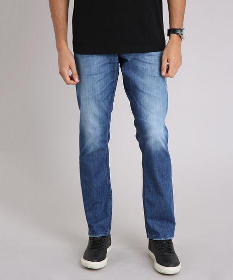 Calca-Jeans-Masculina-Slim-com-Puidos-Azul-Medio-9166444-Azul_Medio_1