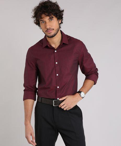 Camisa-Masculina-Comfort-Manga-Longa-Vinho-9138610-Vinho_1