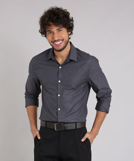 Camisa-Masculina-Comfort-Manga-Longa-Chumbo-9138610-Chumbo_1