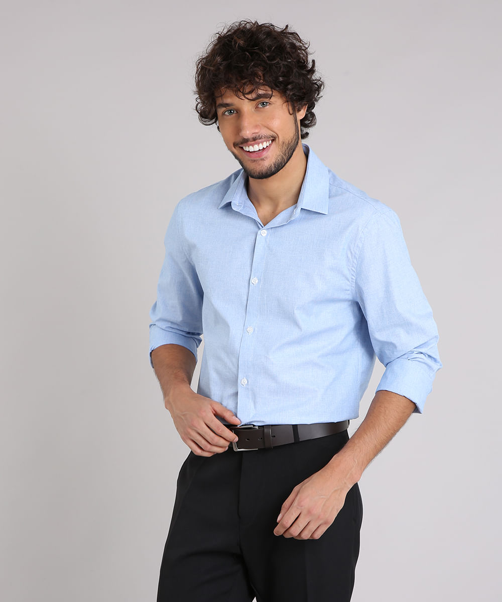 c0c5d80b85 ... Camisa-Masculina-Comfort-Manga-Longa-Azul-Claro-9138610-