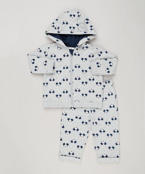 Conjunto-Infantil-Mickey-de-Blusao-com-Capuz-e-Ziper---Calca-em-Moletom-Cinza-Mescla-8949656-Cinza_Mescla_1