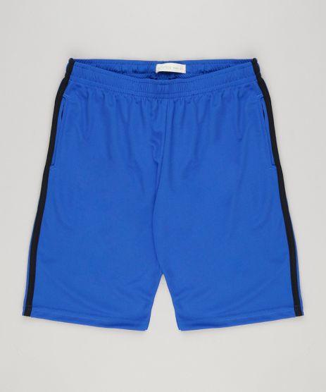 Bermuda-Infantil-Esportiva-com-Faixas-Laterais-Azul-9156592-Azul_1