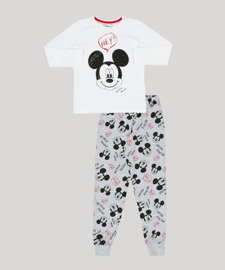 Pijama-Infantil-Mickey-Mouse-Manga-Longa-Gola-Careca-Cinza-Mescla-9133201-Cinza_Mescla_1