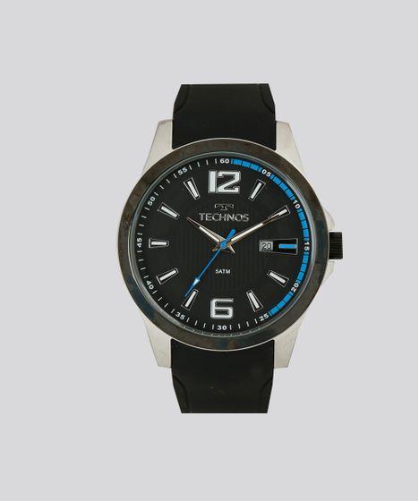 Relógio Analógico Technos Masculino - 2115KNW8P Preto - cea 1618fe571b
