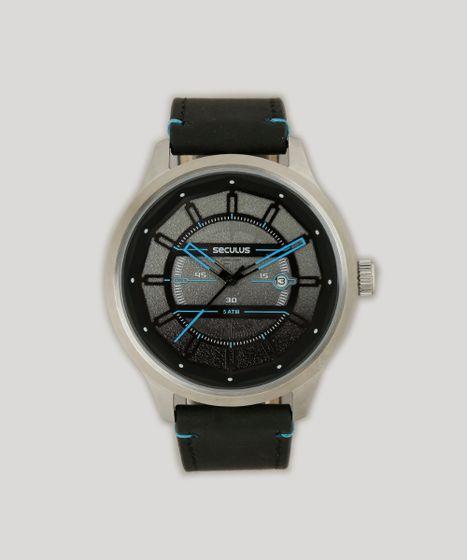 0a263c08579 Relógio Analógico Seculus Masculino - 90004G0SVNC1 Preto - cea