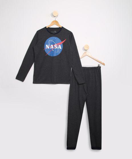 Pijama-Juvenil-Manga-Longa-NASA-Cinza-Mescla-9983653-Cinza_Mescla_1