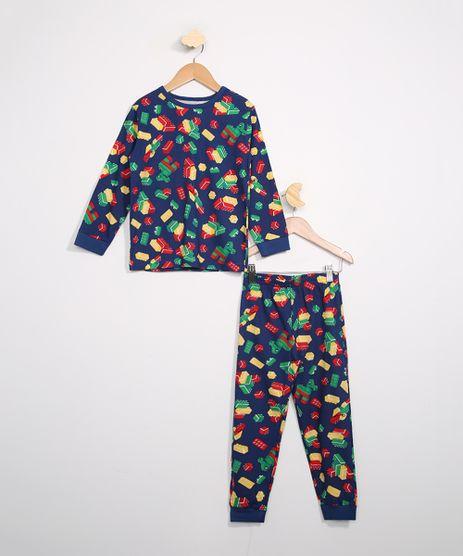 Pijama-Infantil-Manga-Longa-Estampado-Blocos-Brandili-Azul-9983970-Azul_1