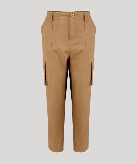 Calca-Feminina-Cintura-Alta-Mom-Pants-Cargo-Kaki-9250598-Kaki_2