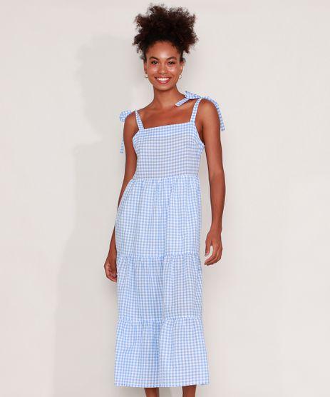 Vestido-Estampado-Xadrez-Vichy-com-Recortes-Midi-Alca-Laco-Azul-Claro-9963101-Azul_Claro_1
