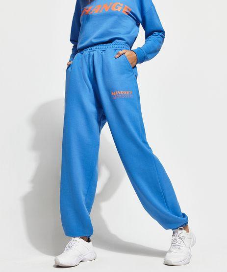 Calca-Baggy-Jogger-de-Moletom-com-Bolsos-Mindset-Azul-Royal-9993024-Azul_Royal_1