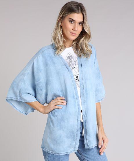 Kimono-Jeans-Feminino-Amplo-Manga-Curta-Azul-Claro-9204372-Azul_Claro_1