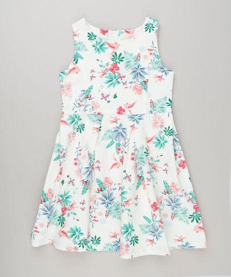 Vestido-Infantil-Estampado-Floral-com-Pregas-Sem-Manga-Off-White-9115651-Off_White_1